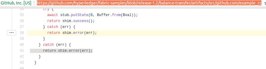 FAB-11098] error in sample code - Hyperledger JIRA